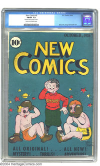 New Comics #9 (DC, 1936) CGC FN/VF 7.0 Cream to off-white pages. Mint copies of this very early comic are unheard-of, in...