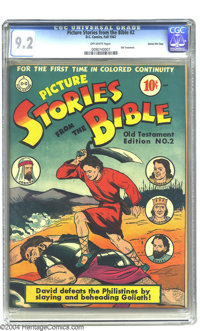Picture Stories from the Bible Old Testament 2 - Gaines File pedigree (DC, 1942) CGC NM- 9.2 Off-white pages. Old Testam...