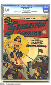 Sensation Comics #1 (DC, 1942) CGC GD/VG 3.0 Cream to off-white pages. A key book from the Golden Age of comics! This hi...