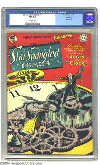 Star Spangled Comics #74 Rockford pedigree (DC, 1947) CGC NM 9.4 Off-white pages. Win Mortimer does an eye-catching Robi...