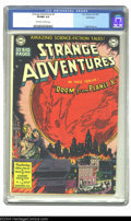 """Golden Age (1938-1955):Science Fiction, Strange Adventures #2 Bethlehem pedigree (DC, 1950) CGC VF/NM 9.0Off-white to white pages. Earth faces the """"Doom from Plane..."""