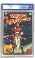 Golden Age (1938-1955):Science Fiction, Strange Adventures #9 (DC, 1951) CGC VF 8.0 Off-white pages. Thisissue marked the first appearance of Captain Comet and als...