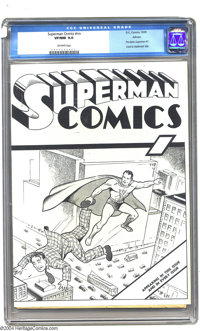 Superman Comics #nn Ashcan (DC, 1939) CGC VF/NM 9.0 Off-white pages. For any Superman title collector, this is the ultim...