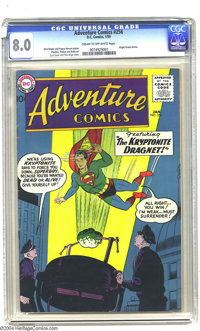 Adventure Comics #256 (DC, 1959) CGC VF 8.0 Cream to off-white pages. This issue features the origin of Green Arrow draw...