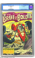 Golden Age (1938-1955):Adventure, The Brave and the Bold #3 River City pedigree (DC, 1955) CGC VF 8.0Off-white pages. This title became associated with super...