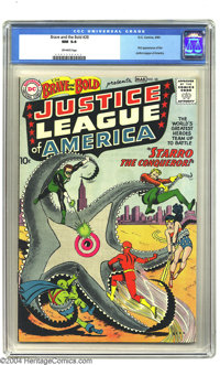The Brave and the Bold #28 Justice League of America (DC, 1960) CGC NM 9.4 Off-white pages. The Silver Age of comics beg...