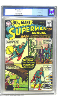 80 Page Giant #1 Superman Annual (DC, 1964) CGC NM 9.4 Cream to off-white pages. Long before Marvel came up with its Wha...