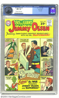 80 Page Giant #2 Jimmy Olsen - Pacific Coast pedigree (DC, 1964) CGC NM+ 9.6 Off-white to white pages. Who's the Man of...