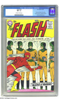 Silver Age (1956-1969):Superhero, The Flash #105 (DC, 1959) CGC NM- 9.2 Off-white to white pages. TheScarlet Speedster, who launched the Silver Age of Comics...