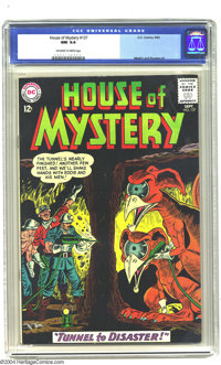 House of Mystery #137 (DC, 1963) CGC NM 9.4 Off-white to white pages. Some unlucky miners are about to encounter some we...
