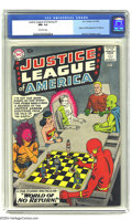 Silver Age (1956-1969):Superhero, Justice League of America #1 (DC, 1960) CGC NM- 9.2 Off-whitepages. Murphy Anderson's dramatic cover ranks high among the g...