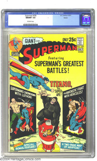 "Superman #239 Boston pedigree (DC, 1971) CGC NM/MT 9.8 Off-white pages. A ""64-page Giant"" featuring ""Supe..."