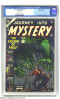 Golden Age (1938-1955):Horror, Journey into Mystery #10 White Mountain pedigree (Marvel, 1953) CGCVF+ 8.5 Off-white to white pages. This issue looks like ...
