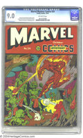 Golden Age (1938-1955):Superhero, Marvel Mystery Comics #24 (Timely, 1941) CGC VF/NM 9.0 Off-white pages. On this Alex Schomburg cover, the Human Torch and To...