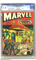 Golden Age (1938-1955):Superhero, Marvel Mystery Comics #37 Pennsylvania pedigree (Timely, 1942) CGC NM 9.4 Off-white pages. Timely comics continue to be popu...