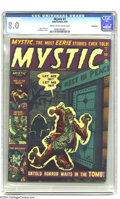 Golden Age (1938-1955):Horror, Mystic #7 Bethlehem pedigree (Atlas, 1952) CGC VF 8.0 Cream tooff-white pages. Joe Maneely cover with Gene Colan interior a...
