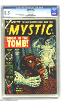 Golden Age (1938-1955):Horror, Mystic #22 Bethlehem pedigree (Atlas, 1953) CGC VF+ 8.5 Off-whitepages. Mummy cover by Russ Heath. Interior art by John For...