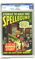 Golden Age (1938-1955):Horror, Spellbound #2 Bethlehem pedigree (Atlas, 1952) CGC FN/VF 7.0Off-white pages. A comic cover featuring a comic book artist, d...