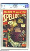 Golden Age (1938-1955):Horror, Spellbound #11 Bethlehem pedigree (Atlas, 1953) CGC VF/NM 9.0Off-white to white pages. Here's another stunning Atlas pre-Co...