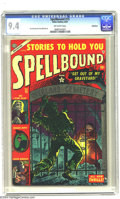 Golden Age (1938-1955):Horror, Spellbound #15 Bethlehem pedigree (Atlas, 1953) CGC NM 9.4Off-white pages. The living and dead come face to face on thisco...