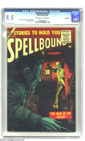 Silver Age (1956-1969):Horror, Spellbound #29 Bethlehem pedigree (Atlas, 1956) CGC VF+ 8.5Off-white to white pages. A very cool cover by John Severin, wit...