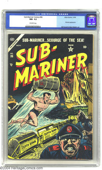 Sub-Mariner Comics #36 (Timely, 1954) CGC NM- 9.2 Off-white pages. This is the highest-graded copy that CGC has certifie...