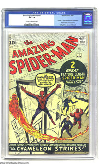 Amazing Spider-Man #1 (Marvel, 1963) CGC VF- 7.5 Cream to off-white pages. We have offered numerous copies of this class...