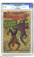 Silver Age (1956-1969):Superhero, Amazing Spider-Man #6 (Marvel, 1963) CGC FN- 5.5 Off-white to white pages. Here we have the first appearance of one of Spide...