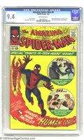 Silver Age (1956-1969):Superhero, Amazing Spider-Man #8 (Marvel, 1964) CGC NM 9.4 Off-white pages. Marvel decided to capitalize on the youthful nature of thei...