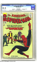 Silver Age (1956-1969):Superhero, Amazing Spider-Man #10 (Marvel, 1964) CGC VF+ 8.5 Off-white pages. Steve Ditko and Jack Kirby cover. Interior art by Steve D...