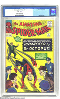 Silver Age (1956-1969):Superhero, Amazing Spider-Man #12 (Marvel, 1964) CGC NM 9.4 Cream to off-whitepages. Guess who's back to bedevil Spider-Man? It's Dr. ...