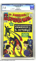 Silver Age (1956-1969):Superhero, Amazing Spider-Man #12 (Marvel, 1964) CGC FN/VF 7.0 Off-white pages. One of the best Spider-Man covers of the Steve Ditko er...