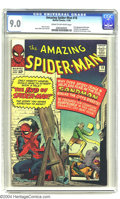 Silver Age (1956-1969):Superhero, Amazing Spider-Man #18 (Marvel, 1964) CGC VF/NM 9.0 Cream to off-white pages. Ned Leeds, who would later become the Hobgobli...