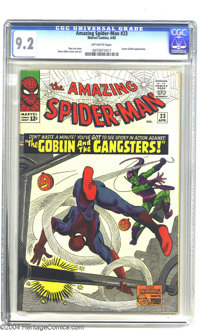 Amazing Spider-Man #23 (Marvel, 1965) CGC NM- 9.2 Off-white pages. Green Goblin, Take Three: that darned Norman Osborn t...
