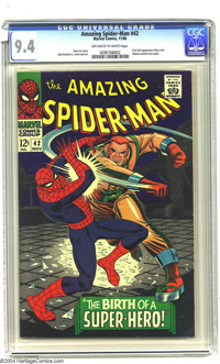Amazing Spider-Man #42 (Marvel, 1966) CGC NM 9.4 Off-white to white pages. Grab on to your hearts, true believers; here...