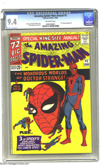 Amazing Spider-Man Annual #2 (Marvel, 1965) CGC NM 9.4 Off-white pages. This square bound volume contains a fan favorite...