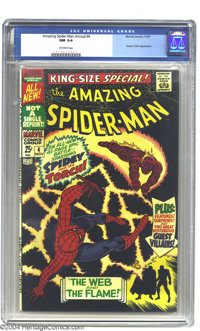 Amazing Spider-Man Annual #4 (Marvel, 1967) CGC NM 9.4 Off-white pages. Spidey battles the Human Torch in an all-new 41-...