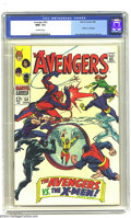 Silver Age (1956-1969):Superhero, The Avengers #53 (Marvel, 1968) CGC NM+ 9.6 Off-white pages. The X-Men versus the Avengers. John Buscema and George Tuska ar...