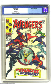 The Avengers #53 (Marvel, 1968) CGC NM+ 9.6 Off-white pages. The X-Men versus the Avengers. John Buscema and George Tusk...