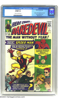 Daredevil #1 (Marvel, 1964) CGC VF/NM 9.0 Cream to off-white pages. The Man Without Fear in his debut appearance, this h...