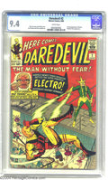 Silver Age (1956-1969):Superhero, Daredevil #2 (Marvel, 1964) CGC NM 9.4 White pages. Stan Lee wasknown for giving fledgling titles a helping hand by guest-s...