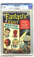 Silver Age (1956-1969):Superhero, Fantastic Four #7 (Marvel, 1962) CGC FN/VF 7.0 Cream to off-white pages. As a veteran of countless monster comics, Jack Kirb...