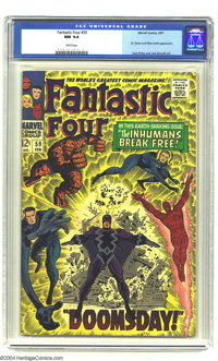 Fantastic Four #59 (Marvel, 1967) CGC NM 9.4 White pages. The Fantastic Four and Silver Surfer versus a cosmic-powered D...