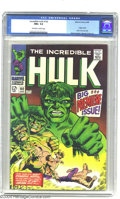 Silver Age (1956-1969):Superhero, The Incredible Hulk #102 (Marvel, 1968) CGC NM+ 9.6 Off-white to white pages. Bruce Banner would need one of his microscopes...