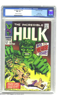 The Incredible Hulk #102 (Marvel, 1968) CGC NM+ 9.6 Off-white to white pages. Bruce Banner would need one of his microsc...