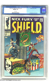 Nick Fury, Agent of SHIELD #1 (Marvel, 1968) CGC NM/MT 9.8 White pages. With this issue, the age of Marvel Pop Art was w...