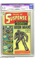 Silver Age (1956-1969):Superhero, Tales of Suspense #39 (Marvel, 1963) CGC Apparent FN- 5.5 Cream to off-white pages. Iron Man took a while to mature into the...