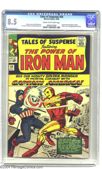 Tales of Suspense #58 (Marvel, 1964) CGC VF+ 8.5 Cream to off-white pages. Captain America battles Iron Man. Jack Kirby...