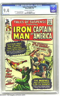 Tales of Suspense #61 (Marvel, 1965) CGC NM 9.4 Off-white to white pages. Lots of white on this Jack Kirby cover means y...