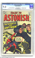 Silver Age (1956-1969):Superhero, Tales to Astonish #35 (Marvel, 1962) CGC VF/NM 9.0 Off-white towhite pages. With the success of Spider-Man, Marvel tried an...